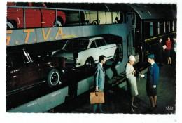 """20626  CPA    Chemins De Fer Français  """" TRAIN AUTO COUCHETTES """" Jolie Carte Photo 1970 ,  ACHAT DIRECT !! - Equipment"""