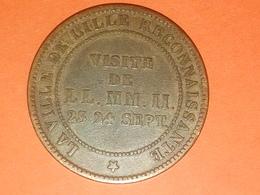 MÉDAILLE VILLE DE LILLE RECONNAISSANTE NAPOLÉON III 1853 VISITE DE LL.MM.II. 23 24 SEPTEMBRE - Royaux / De Noblesse