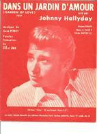 """Partition JOHNNY HALLYDAY  ' DANS UN JARDIN D'AMOUR """"   Année 1962 - Music & Instruments"""