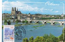 Carte-Maximum FRANCE N° Yvert 2953 (ORLEANS) Obl Sp Ill 1er Jour (Ed Valoire 4080) - 1990-99