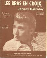 """Partition JOHNNY HALLYDAY """" LES BRAS EN CROIX  """"   Année 1962 - Music & Instruments"""