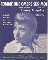 """Partition JOHNNY HALLYDAY """" COMME UNE OMBRE SUR MOI  """"   Année 1963  TRÈS RARE - Music & Instruments"""