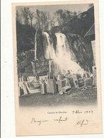 01 CASCADE DE GLANDIEU CPA BON ETAT - Divonne Les Bains