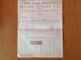 Facture Delhaye,Dongrie Rue Otlet Bruxelles-Midi 7/10/1925. - Cars
