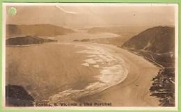 Santos - Barra - S. Vicente E Ilha Porchat - Cabo Verde (postal C/ Furo) - Cape Verde
