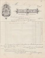 Toulouse - G Guy - 1881 - Imprimerie,lithographie ,registres - Cars