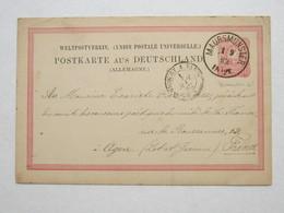 1882 , MAURSMÜNSTER  , Klarer Stempel  Auf Karte - Alsace-Lorraine