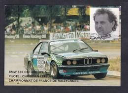 CPSM LOHEAC (35) La Manivelle Grill Championnat France Rallycross Christian Lefeuvre BMW 635 CSI Rallye Voiture - Autres Communes