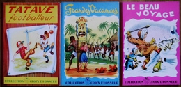 3 ALBUMS COLL.CROIX D'HONNEUR-LE BEAU VOYAGE+TATAVE FOOTBALLEUR+GRANDES VACANCES - Books, Magazines, Comics