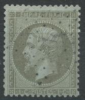 Lot N°42395  Variété/n°19, Oblit étoile Chiffrée 4 De PARIS (R. D'Enghien), E De EMPIRE, Tache Blanche Derierre Le Coup - 1862 Napoleone III