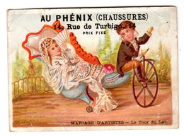 Chromo Imp. Bouillon Rivoyre, Velo, Bicyclette, Grand Soulier, Au Phenix - Andere