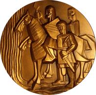ESPAÑA. MEDALLA F.N.M.T. SERIE RÍOS ESPAÑA. JALÓN. 1.987. BRONCE. ESPAGNE. SPAIN MEDAL - Professionals/Firms
