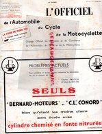 REVUE L' OFFICIEL AUTOMOBILE CYCLE MOTOCYCLETTE- MOTO-AUTO- FOIRE PARIS 1935- N° 27- ALUMINTZ-LEVALLOIS-TSF-RODAGYL- - Auto