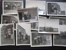 LOT 12 PHOTOS BELGIQUE (M1899) TONGRINNE / SOMBREFFE (2 Vues) 1944 Chez Le Docteur Douchamps - Sombreffe