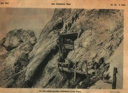 Ein Österreichisch - Ungarischer Geschuetzstand In Den Bergen /Druck,entnommen Aus Zeitschrift /1917 - Bücher, Zeitschriften, Comics