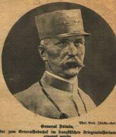 General Petain /Druck,entnommen Aus Zeitschrift /1917 - Livres, BD, Revues