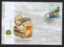 LATVIA 2018  Unique Exhibits Of The Latvian Museum Of Natural History - Gypsum Rock - Mineralen