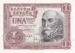 BILLETE DE 1 PTA DEL 22/07/1953 SERIE N CALIDAD EBC (XF) (BANKNOTE) - [ 3] 1936-1975 : Regency Of Franco