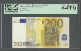 "GERMANY  ""X"" 200  EURO DUISENBERG Signature! PCGS 64PPQ (Perfect Paper Quality!) VERY CHOICE UNC  Printer  R006G1! - EURO"