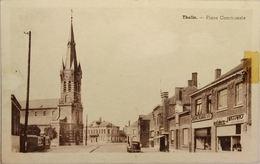 Thulin Place Communale (Papier Collant Et Trace D'usure Voir Photo) - Hensies