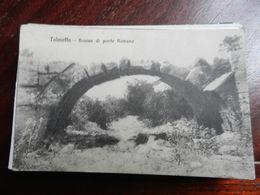 16558) LIBIA TOLMETTA ROVINE PONTE ROMANO NON VIAGGIATA DATATA 1910 A MATITA - Italia