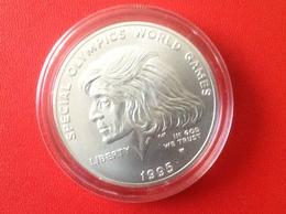 Münze Dollar USA 1995 Silber Siegermedaille Special Olympics Und Rose Eunice Mary Kennedy Shriver W - N. Gedenkmünzen