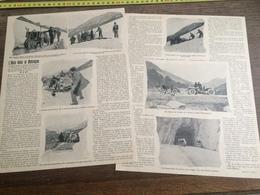 1903 L AUTO DANS LA MONTAGNE MAPPONI MEDER FRASCHINI PETIT SAINT BERNARD FAVERGES ALBERTVILLE  ANNECY - Colecciones