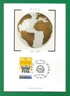 Frankreich 2004  Mi.Nr. 3815 , FIFA 1904-2004 - Maximum Card - Premier Jour 21-05-2004 Paris - Maximumkarten