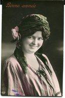 CPA - Carte Postale - Belgique - Fantaisie - Bonne Année - Femme - Sourire - Turban - 1919  (CP2987) - Nieuwjaar