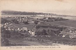 14. DIVES - CABOURG. CPA . PANORAMA PRIS DE LA PROPRIÉTÉ FOUCHER DE CAREIL. TEXTE ANNEE 1919. - Dives
