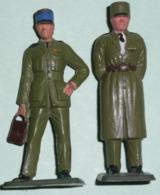 Rare Lot 3 Officiers STARLUX, Militaria Soldats Sous-officier - Starlux