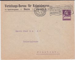 Schweiz Privatganzsache PU Kolonialwaren Bern 1919 - Enteros Postales