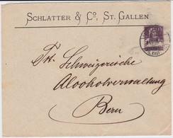 Schweiz Privatganzsache PU Schlatter Sankt Gallen 1918 - Entiers Postaux