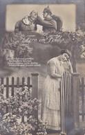 AK Deutsche Soldaten Und Frau - Verwundeter - Fern Im Feld - Patriotika - Feldpost Wiederitzsch 1915 (34664) - Guerre 1914-18