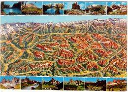 Dolomiti. Multivisione Con Vista Aerea. NV. - Carte Geografiche