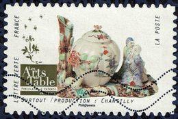 France 2018 Oblitéré Used Arts De La Table Porcelaine Et Faïence Surtout Production Chantilly Y&T 1539 - France