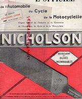 REVUE L' OFFICIEL AUTOMOBILE CYCLE MOTOCYCLETTE- MOTO-AUTO- 1935-N° 43-NICHOLSON-CONCOURS LEPINE-PILE WONDER-DUNLOP- - Auto