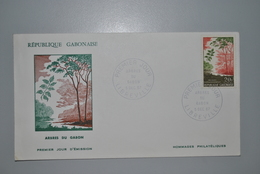 Gabon 1967 Enveloppe Premier Jour - Gabon (1960-...)