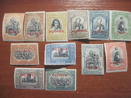 Azores Portugal 1928 Overprint On Portuguese Stamps MLH - Colonies & Territories – Unclassified