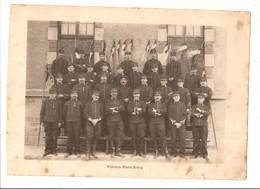 Militaria Photo Recto Verso Fanfare Et Peloton Hors -Rang Photo Issue D'un Album De 1901 Du 16 ème Dragons De Reims - Unclassified