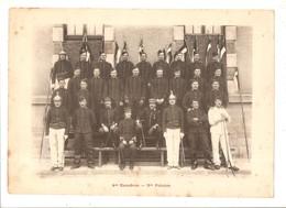 Militaria Photo Recto Verso 4ème Escadron 2ème Et 3ème Peloton Photo Issue D'un Album De 1901 Du 16 ème Dragons De Reims - Non Classificati