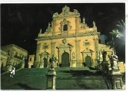 Sicilia Modica (Ragusa) Duomo Di S. Pietro – Notturno Non Viaggiata - Modica