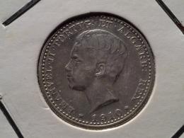 100 Reis 1910 D.Manuel II  Silver - Portugal
