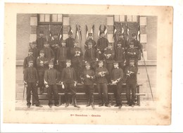Militaria Photo Recto Verso 2ème Escadron 1er Peloton & Gradés Photo Issue D'un Album De 1901 Du 16 ème Dragons De Reims - Unclassified