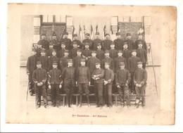 Militaria Photo Recto Verso 3 ème Escadron Gradés & 2ème Es. Photo Issue D'un Album De 1901 Du 16 ème Dragons De Reims - Unclassified