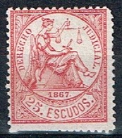 Derecho Judicial Antillas, 1867, 25 Escudos - Fiscales
