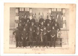 Militaria Photo Recto Verso 4ème Escadron 1er Peloton & Gradés Photo Issue D'un Album De 1901 Du 16 ème Dragons De Reims - Unclassified