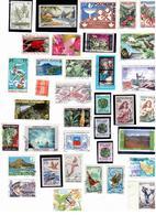 Lot De 36 Timbres : Polynésie,St Pierre Et Miquelon, Nouvelle Calédonie,Mayotte, Terre Australe - Vrac (max 999 Timbres)