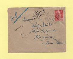 Cabries - Bouches Du Rhone - Lettre Pour Hericourt - Retour A L Envoyeur 4169 De Vesoul - 1921-1960: Moderne