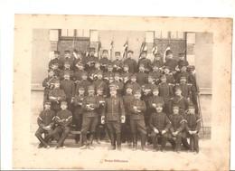 Militaria Photo Recto Verso 1er Escadron Gradés & Sous-Off. Photo Issue D'un Album De 1901 Du 16 ème Dragons De Reims - Unclassified